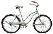 """26""""women green beach bike/cruiser SH-BB085"""