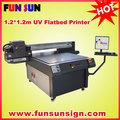 /textiles de cuero/de plástico uv de cama plana de la impresora konica con la cabeza 512/1024( 1440dpi, colores 7)
