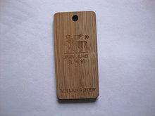 eco- friendly bamboo fancy hang tag