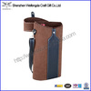 New Arrival Top Grade Leather wine bottle carrier hold 2 wine