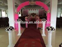 2014 hot selling plastic wedding decorating roman pillar for wedding