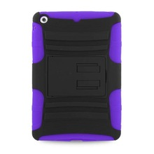 J1094 Rhino Kickstand Hard Cover Rubber Case For ipad mini pruple