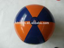30cm inflatable Orange&blue color beach ball toys