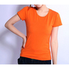 200g 15 Lycra 85 Cotton Ladies Slim Fit , Plain T-shirts , Custom Printed T-shirts , Custom Labels , China Wholesale Clothing