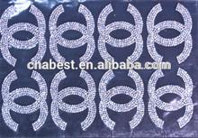 Hot fix ab color decorative bridal rhinestone mesh for dresses