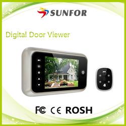 """Wide viewing angle 3.5"""" Large screen Peephole digital door eye"""