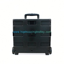 Durable Folding Plastic Shopping Bag with Wheels