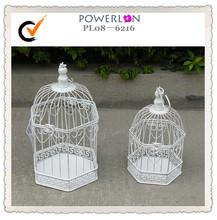 Wrought iron mesh bird cage ornament