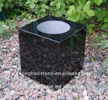 China granito negro cementerio jarrones