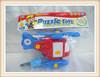 hot sale kids intelligent DIY plane assemble toy
