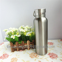 2015 hot and cold stainless steel vacuum bottle with bamboo cap china manufacturer