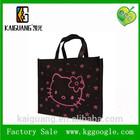 Top quality and hot selling Hello kitty non-woven fabrics Handbag Tote Purse Shopping Bag