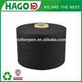 ne 8s negro teñido de gran cantidad de stock de reciclaje de ropa importada de china continental a granel ideal open end hilados de algodón guante