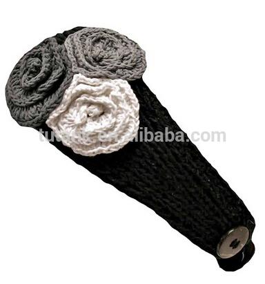 lüks divas siyah dantelli bandı üç örgü çiçekler