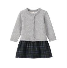 Caliente de primavera y otoño los niños niñas de flores de perlas pc 2 trajes de punto de manga sweater+long shirt+ruffles falda conjunto
