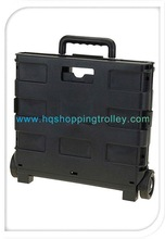 2012 hot Plastic Pack N Roll-Folding Cart with Pull handle