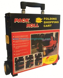beautiful and useful plastic shopping trolley for car and home
