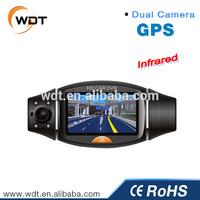 2014 Best Seller 2.7inch GPS G-sensor 1080p hd 2 channel car dvr