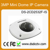 hikvision security camera made in china DS-2CD2532F-IS IR 3mp mini Dome HD 1080p with poe best selling products