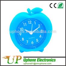 Fashion Silicone Apple Shape Alarm Clock