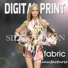 Custom Designed fabric digital printing silk Z0722C