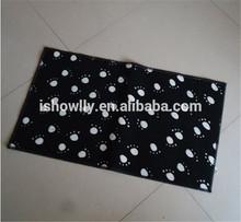 Paw printing Soft dog mat non slip base dog place door mat