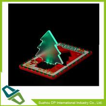 LED Plastic Christmas Tree LED Christmas Card