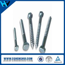 Stainless Steel 316 Black Zinc Plating Lag Screw from China supplier