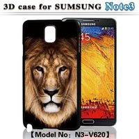 Mighty Tiger Printing Cell Phone Case 3D Flash Back Cover For Samsung Galaxy Note 3 N9000