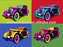 Four Color Car Decorate Art Canvas Pictures