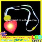led flashing heart shaped necklace