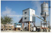 60m3/h HZS60 wet mix concrete batching plant, mobile concrete batch plant for sale,concrete mixing plant