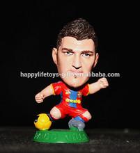 Miniature famous soccer player custom pvc figure