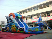 2014 Attractive Undersea Inflatable Slide/Dolphin Inflatable Slide for Kids