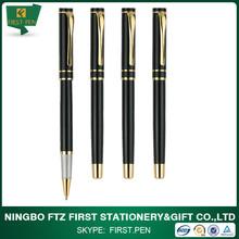 2014 Popular Golden Chrome Trims Metal Roller Gifts Pen For Men