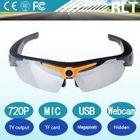 720P HD sport sunglasses sd card pinhole camera support microphone 32GB TF card USB interface hidden camere