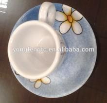 YF27014 ceramic espresso cup and saucers