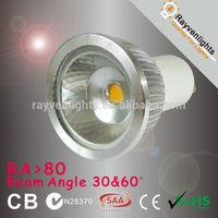CE Rohs LED cob led spotlight GU10 mr16 spotlight lamp ,RA>80