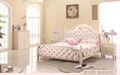 Rosa de madeira branca camas de dossel