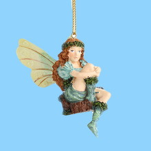 Resin Sitting fantasy hollow tail characters Fairy