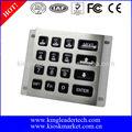 led backlit 16 teclado numérico teclas de função