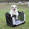 hot sale light weight fabric+steel pet carrier for dogs WPE6001