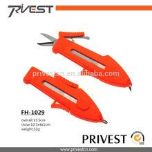 Plastic Hanlde Retractable Two Blades Fishing Line Scissors Orange New
