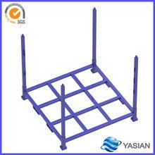 high qualtiy customized design metal collapsible storage rack/pallet/crate