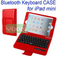 New arrival pu leather flip bluetooth keyboard case for iPad Mini