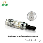 New product ecigator ecig sex nolvety online B2C open e shop for ecigator two chambers two flavors dual coil cartomizer