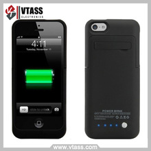 Power Case for iPhone 5, Rechargeable & Portable Extended Life Backup Power Bank for Locked or Unlocked Iphone5, 5S, 5G & 5C
