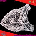 de lujo de cuello de ganchillo del cordón o diseño decrotions blusa sari