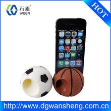 silicone Mini football/soccer/Basketball speaker for mobile phone