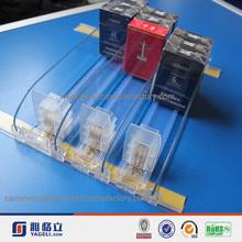 venta caliente empujador de la fabricación de personalizar transparente de acrílico del cigarrillo soporte de exhibición